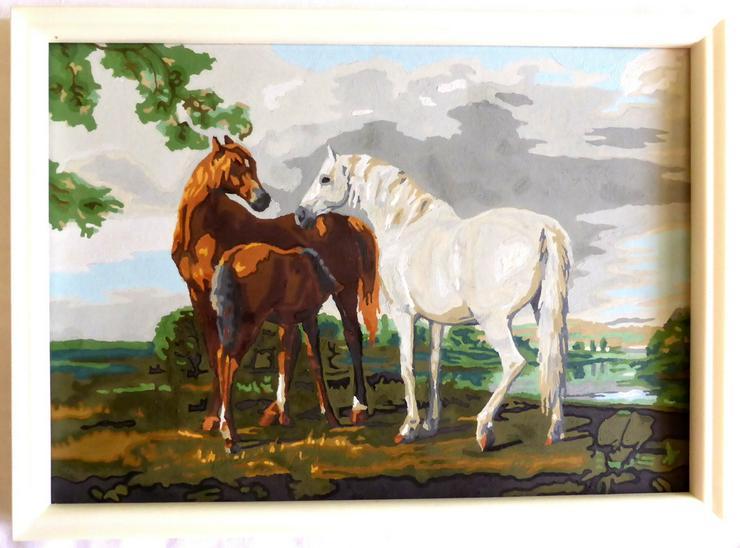 Gemälde Pferdefamilie - Gemälde & Zeichnungen - Bild 1