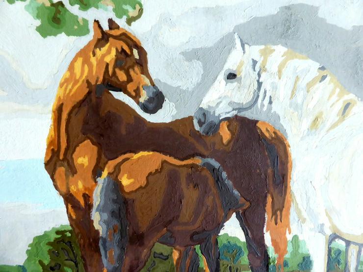 Bild 2: Gemälde Pferdefamilie