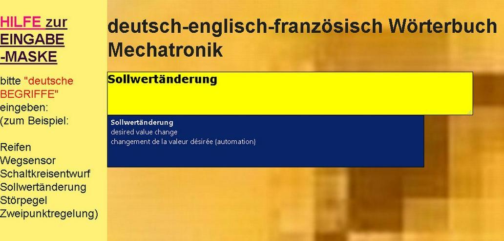 Bild 6: vocabulaire automation + technique