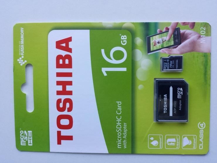 16GB Toshiba Micro SD SDHC Speicherkarte - Weitere - Bild 1