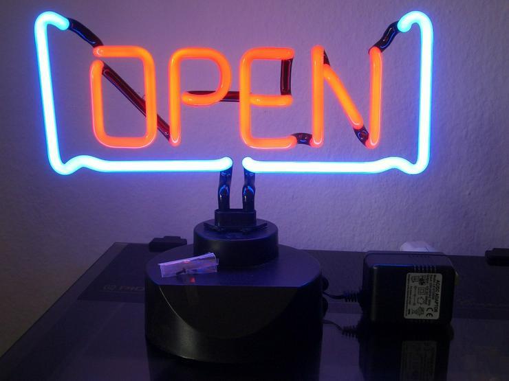 OPEN Neon-Leuchte Open Neonleuchte Neonlampe