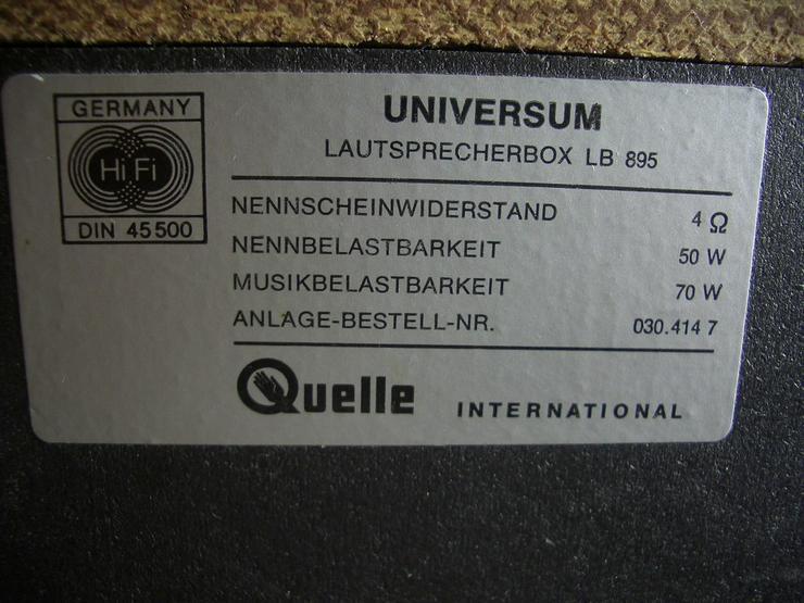 Bild 5: 3 Wege Laustsprecherboxen Universum  LB 895 .