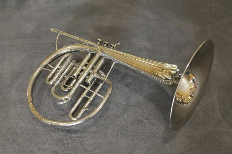Kühnl & Hoyer F und Es - Mellophon mit Koffer - Blasinstrumente - Bild 1