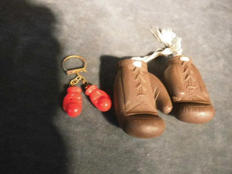 2 Paar Boxhandschuhe als Schlüsselanhänger ode