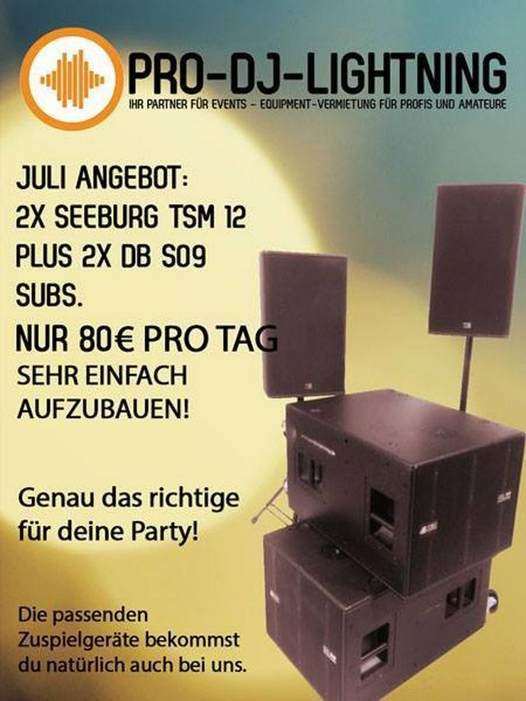 Special Offer: 1 x Seeburg TSM12 + 2 x dBTechnologies DVA S09 Subs - Party, Events & Messen - Bild 1