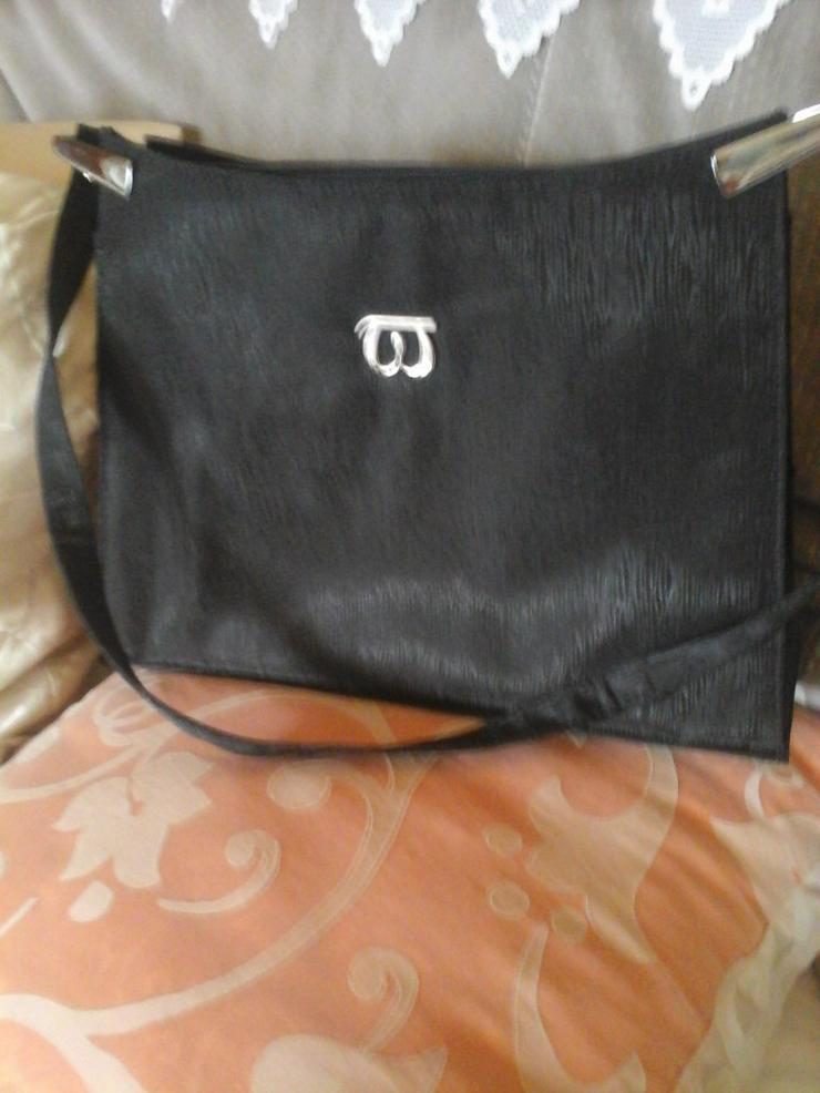 schwarze Stofftasche - Taschen & Rucksäcke - Bild 1
