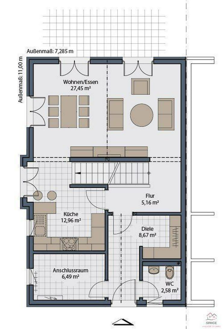 """Bild 4: Neubauprojekt """"Bellevue"""" für die junge Familien in Höchstetten"""