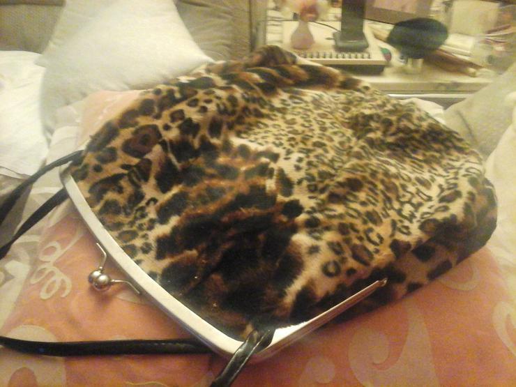 Stofftasche Leopardenoptik