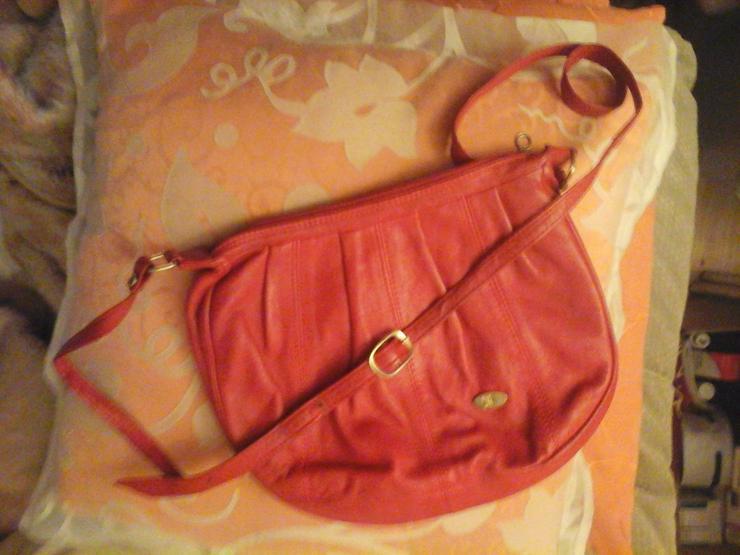 rote Lederhandtasche - Taschen & Rucksäcke - Bild 1