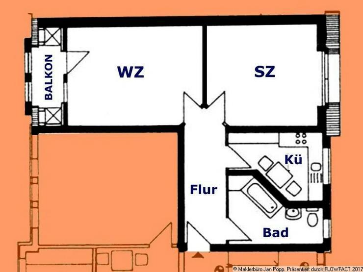Bild 10: Zweiraumwohnung mit Einbauküche und Balkon