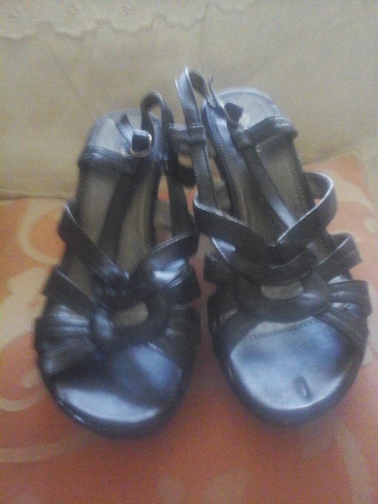 Sandalette schwarz - Größe 40 - Bild 1