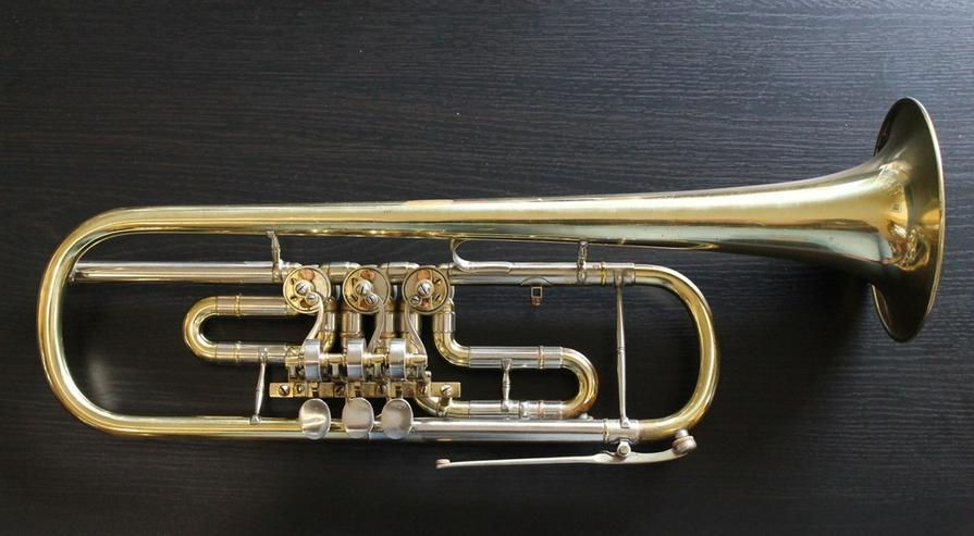 Deutsche B - Konzert - Trompete, 3 Drehventile - Blasinstrumente - Bild 1