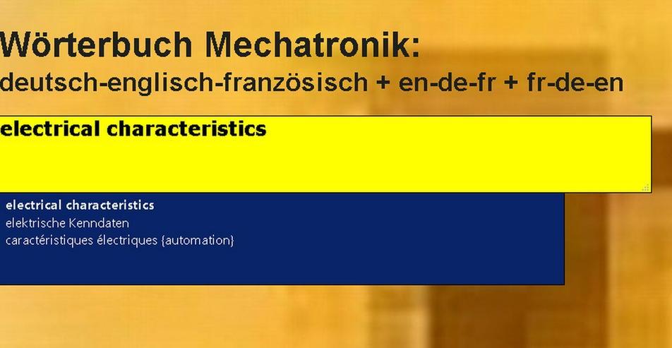 Bild 5: Mechanik/ Metalltechnik-Begriffe uebersetzen