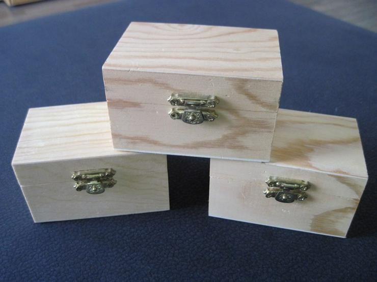 3 Schatzkisten , Schatzkästchen aus Holz - Bausteine & Kästen (Holz, Lego usw.) - Bild 1