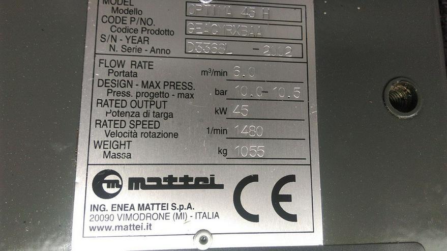 Bild 4: Mattei Optima 45 H Rotationskompressor
