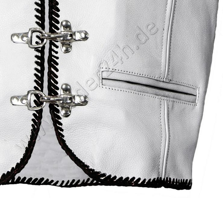 Bild 5: Weiße Lederwesten  XS -7XL