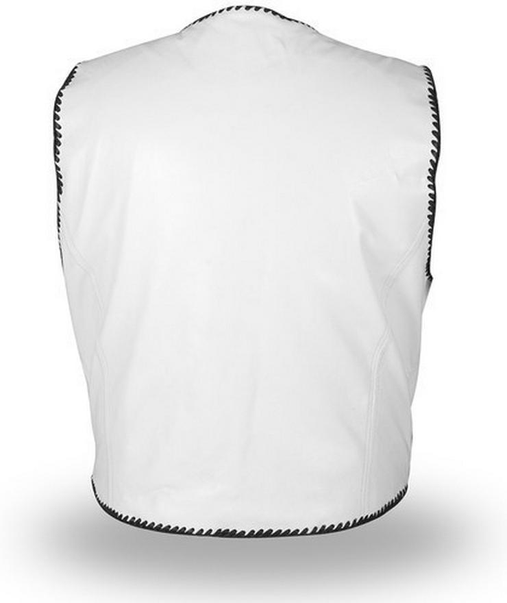 Bild 6: Weiße Lederwesten  XS -7XL