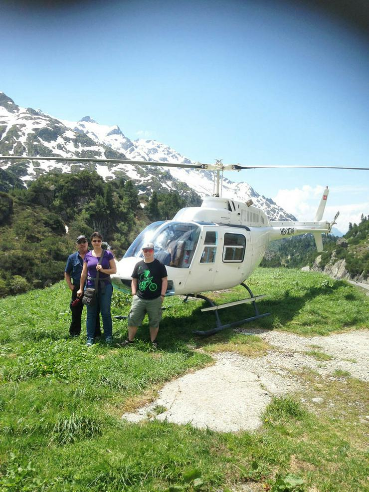 Bild 2: Helikopterflug in der Schweiz