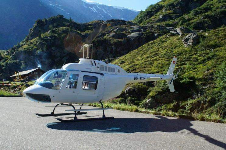 Bild 3: Helikopterflug in der Schweiz