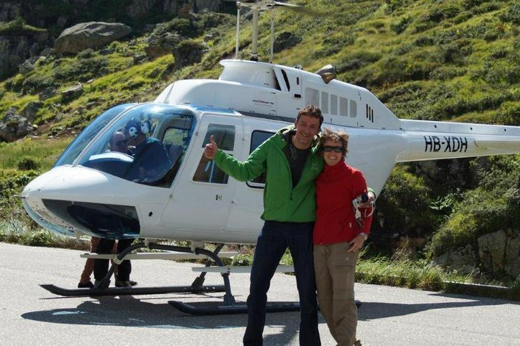 Bild 5: Helikopterflug in der Schweiz