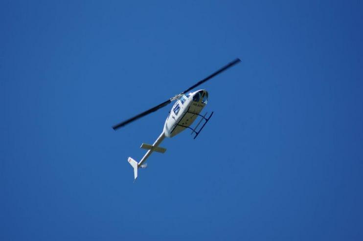 Bild 6: Helikopterflug in der Schweiz