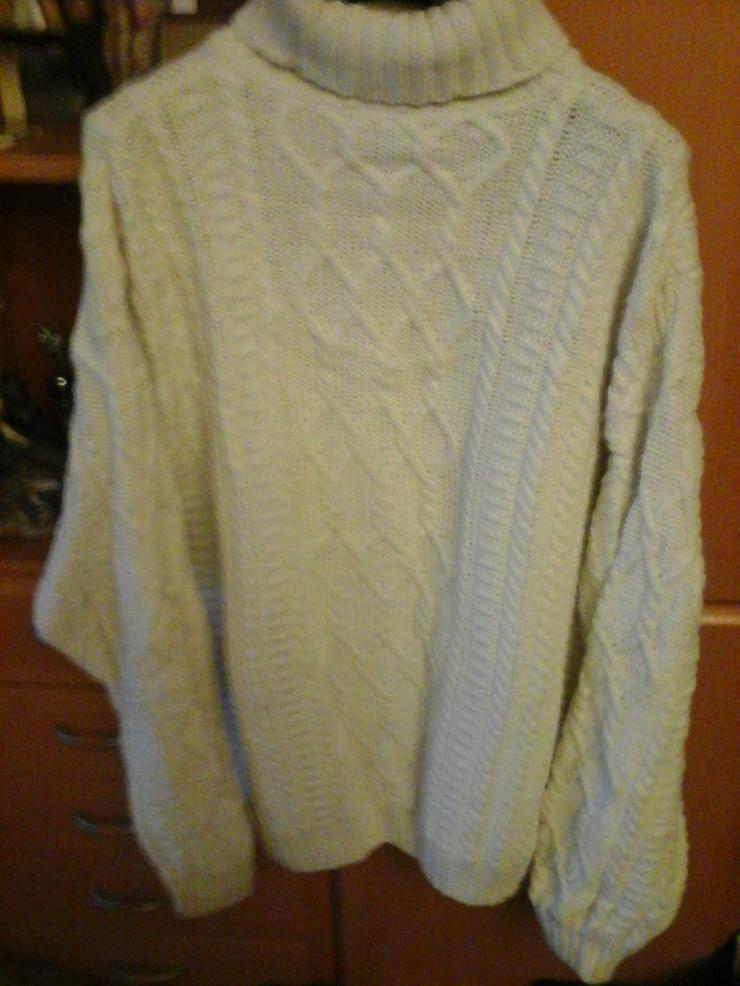 weißer Baumwolle/Cotton Strickpullover