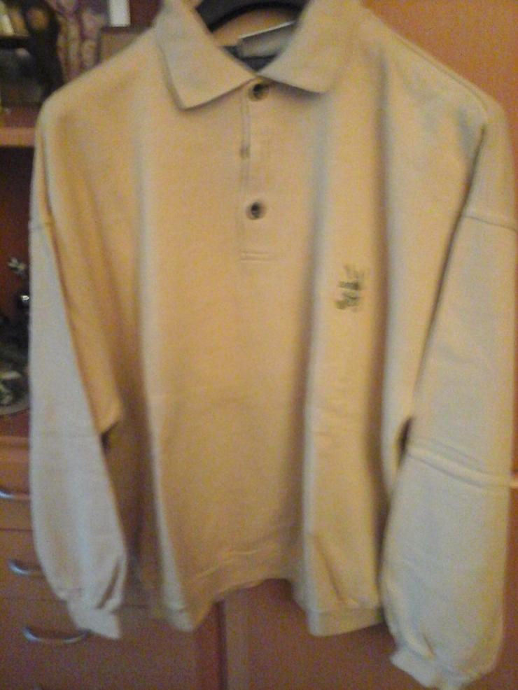 beiges Herrensweatshirt - Größen 60-62 / XXL - Bild 1