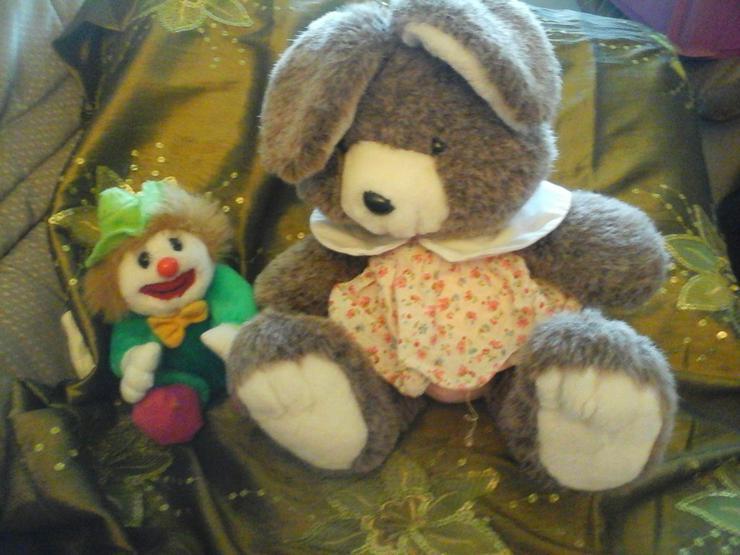 Plüschclown Plüschhase - Teddybären & Kuscheltiere - Bild 1