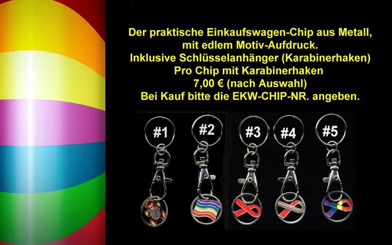 Bild 2: Pride Regenbogen Einkaufswagen-Chip