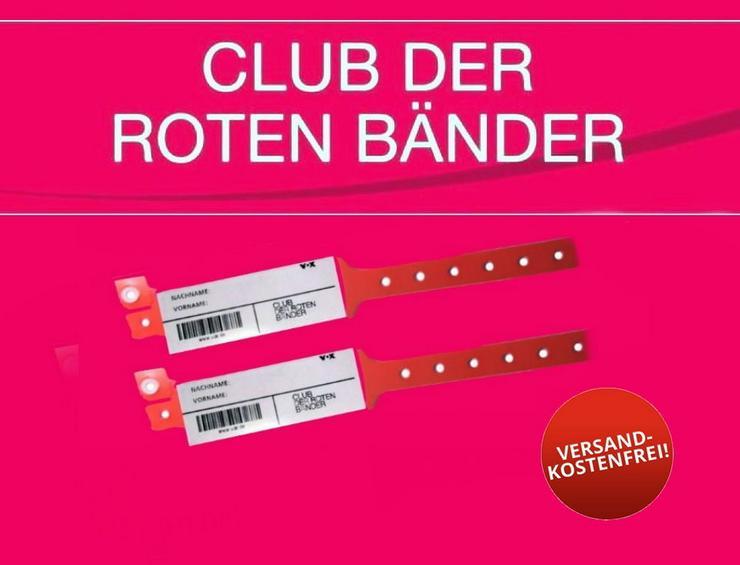 2 Clubarmbänder - Club der roten Bänder