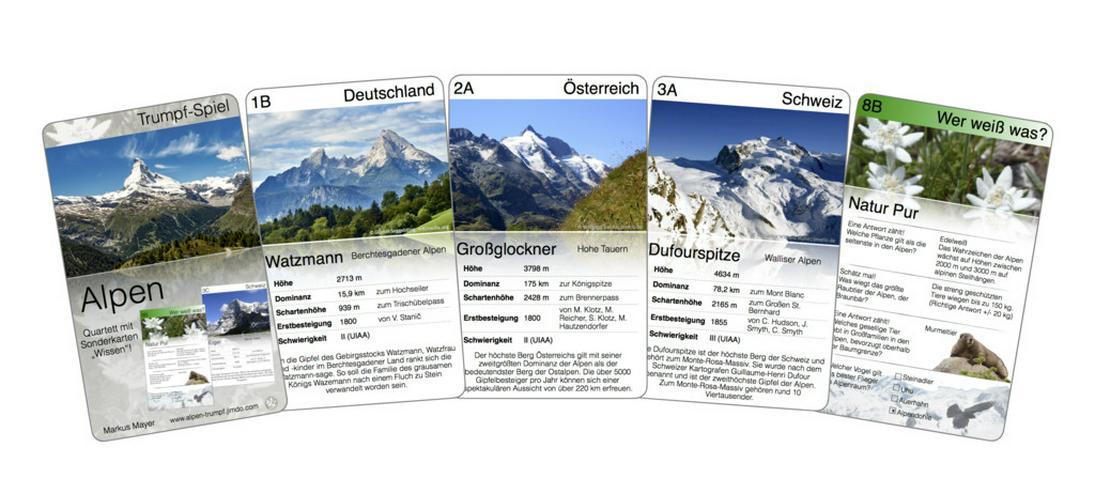 Alpen Trumpf - das neue Quartett - Brettspiele & Kartenspiele - Bild 1