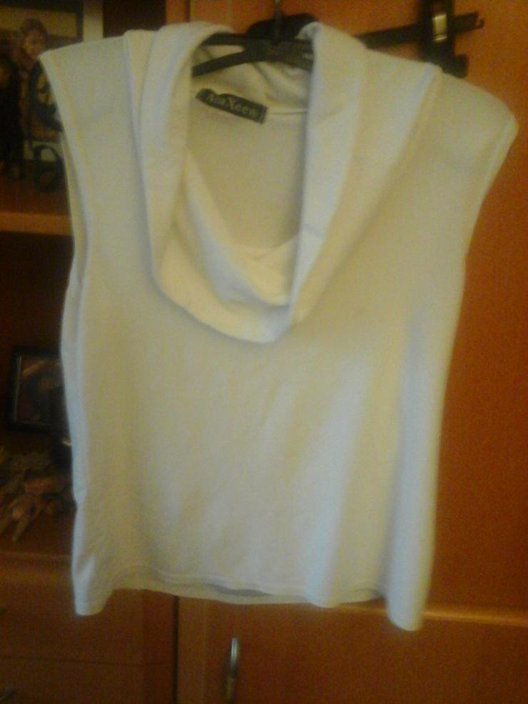 weißes Polyester Shirt - Größen 44-46 / L - Bild 1