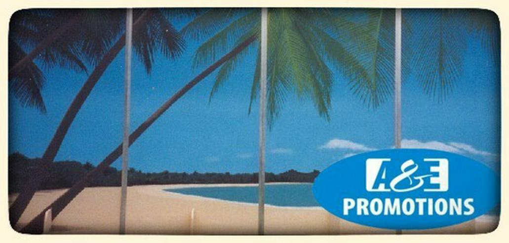 Bild 4: palmen felsen deko verleih beachparty deko