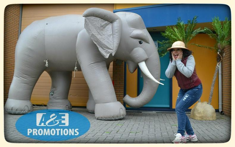 Bild 4: dschungel items mieten riesen elefant deko