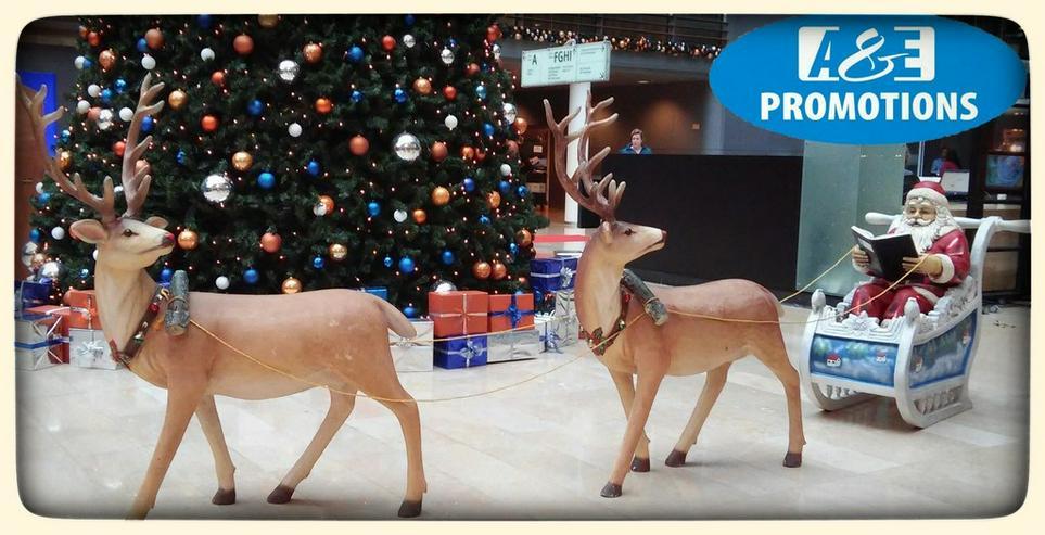 weihnachts deko verleih schlitten rentieren