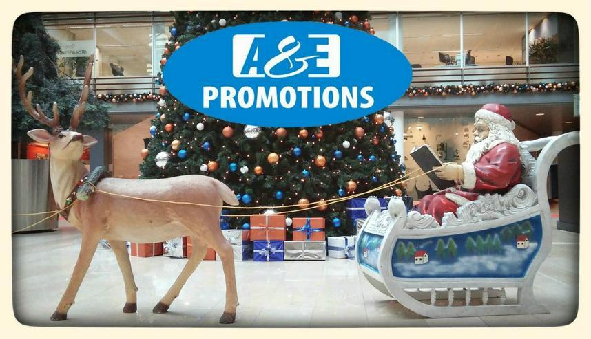 Bild 2: weihnachts deko verleih schlitten rentieren