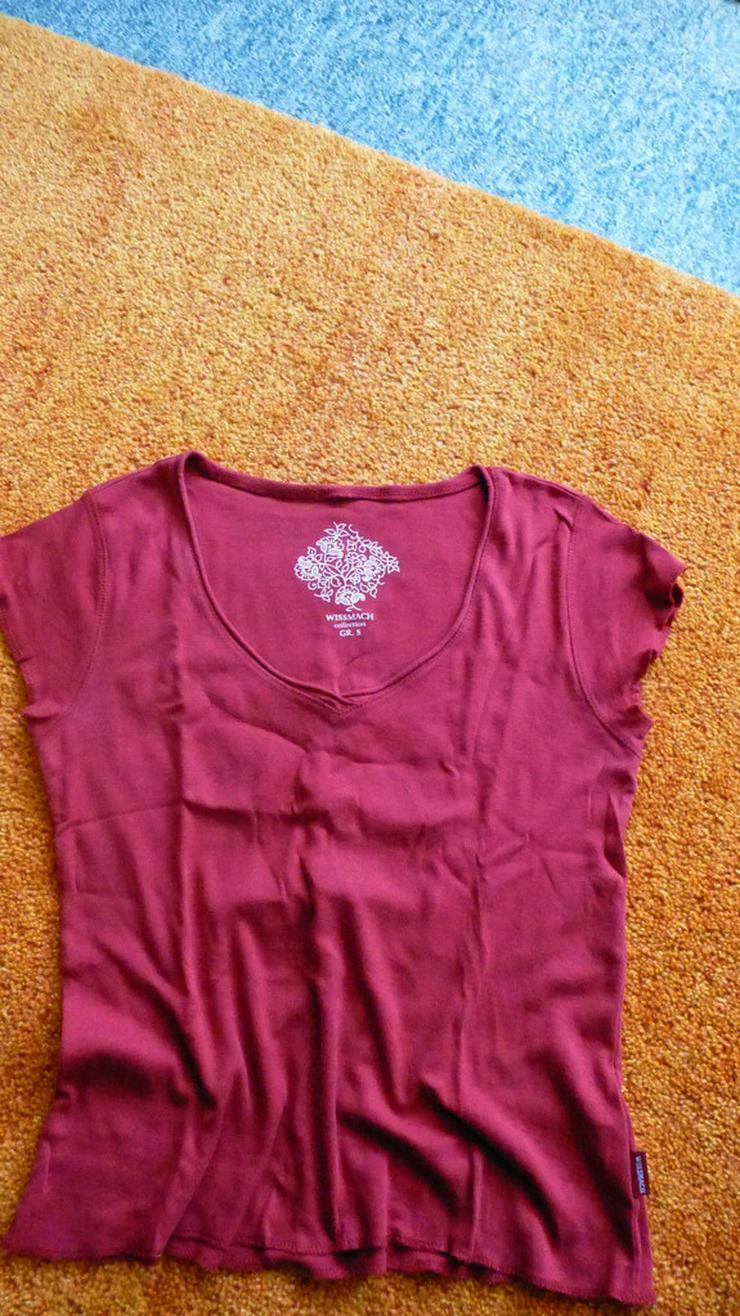 Damen Shirt T-Shirt Top Bluse Rot Gr. S
