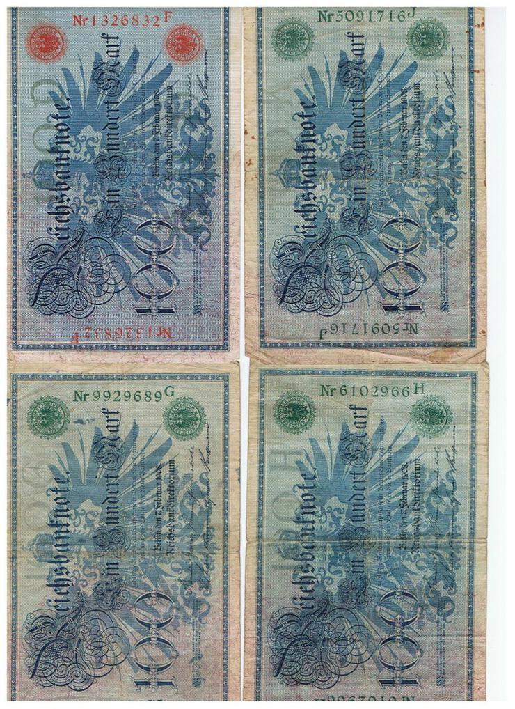 Bild 1: 100 Reichsmark von 1908