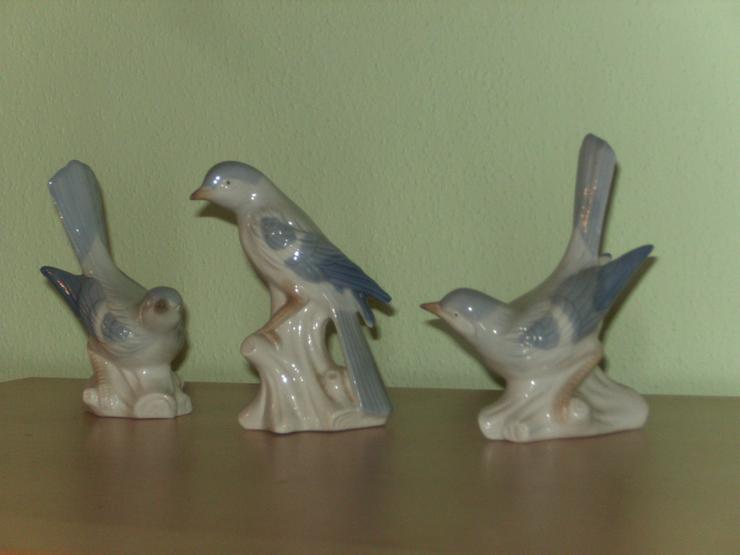 Bild 2: Porzellanvögel, 3 Stck, 12-13 cm hoch