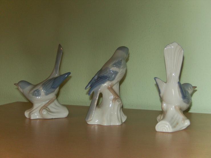 Bild 5: Porzellanvögel, 3 Stck, 12-13 cm hoch