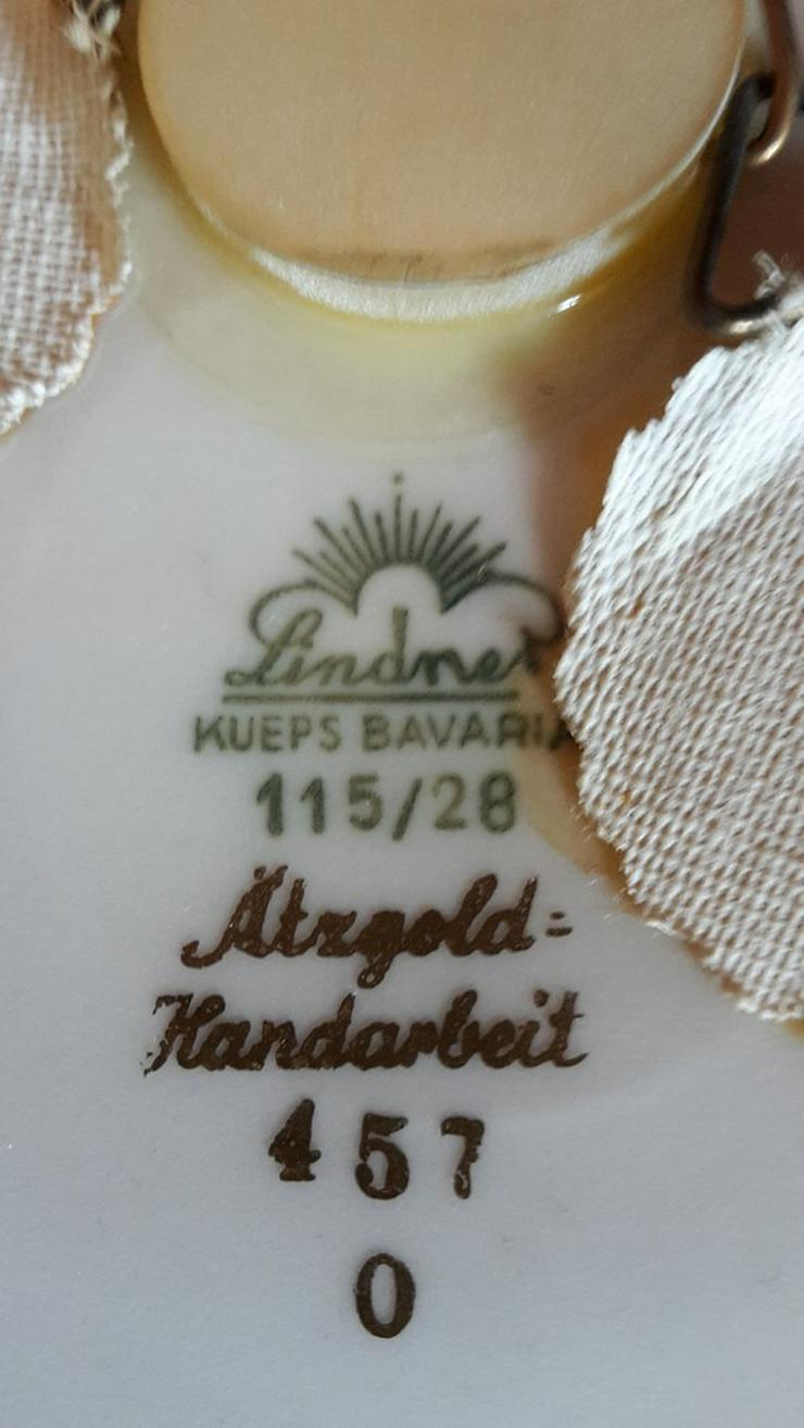 Bild 3: Zierteller/Schale Lindner Ätzgold, und Vase
