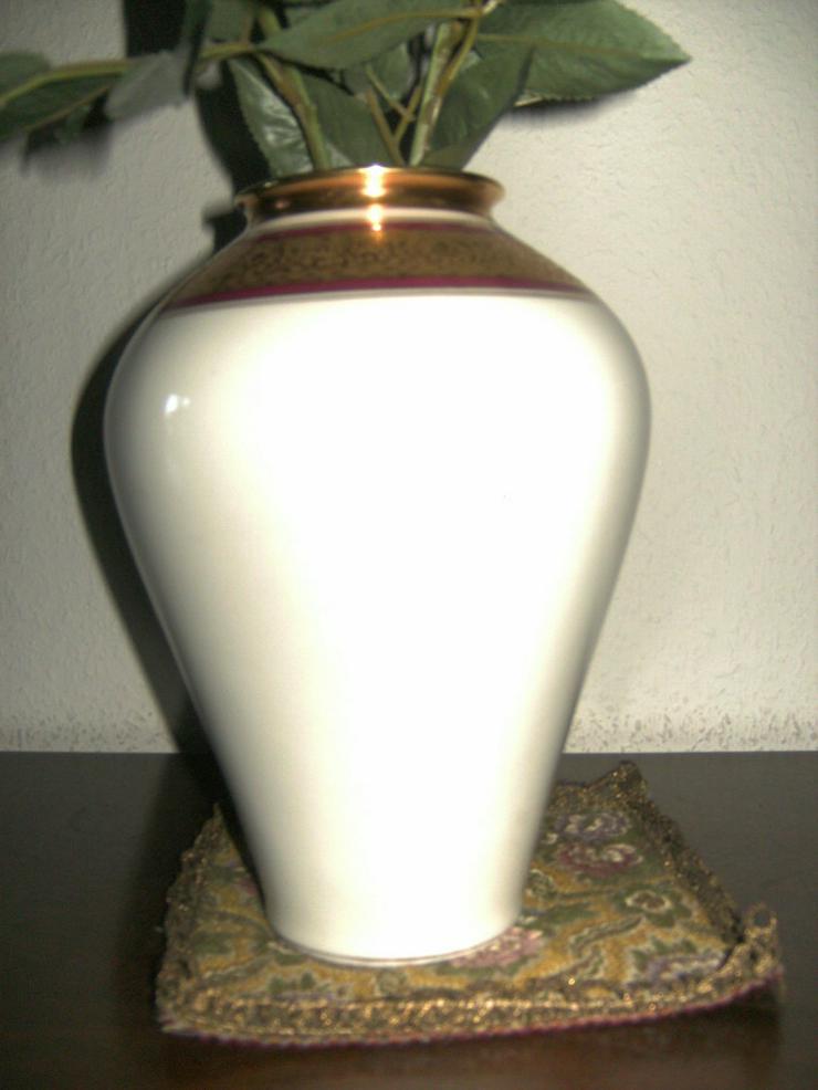 Bild 4: Zierteller/Schale Lindner Ätzgold, und Vase