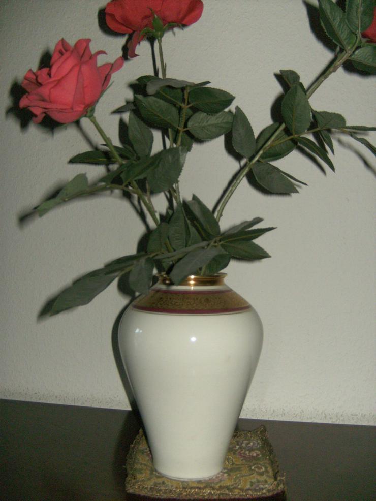 Bild 5: Zierteller/Schale Lindner Ätzgold, und Vase