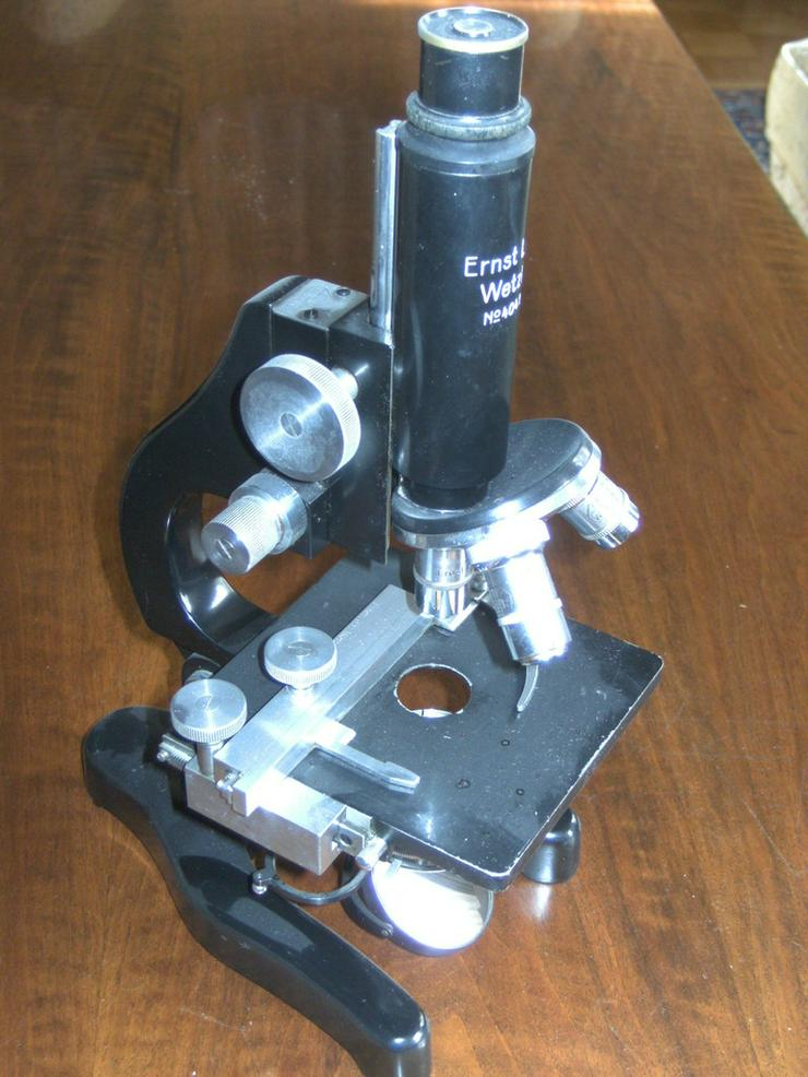 Bild 4: Mikroskop Ernst Leitz Wetzlar,