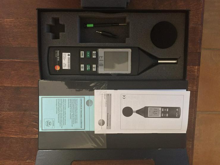 Schallpegel-Messgerät Testo 816