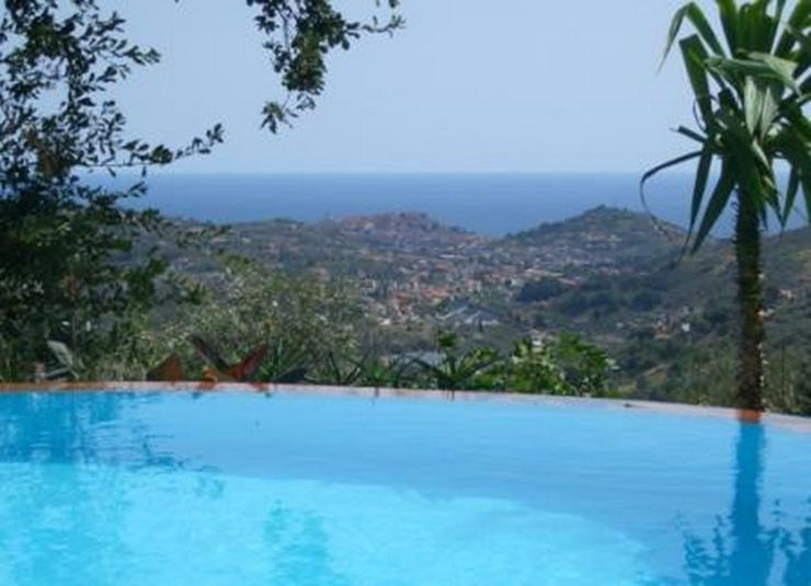 Haus mit Pool und Meerblick, Ligurien Imperia