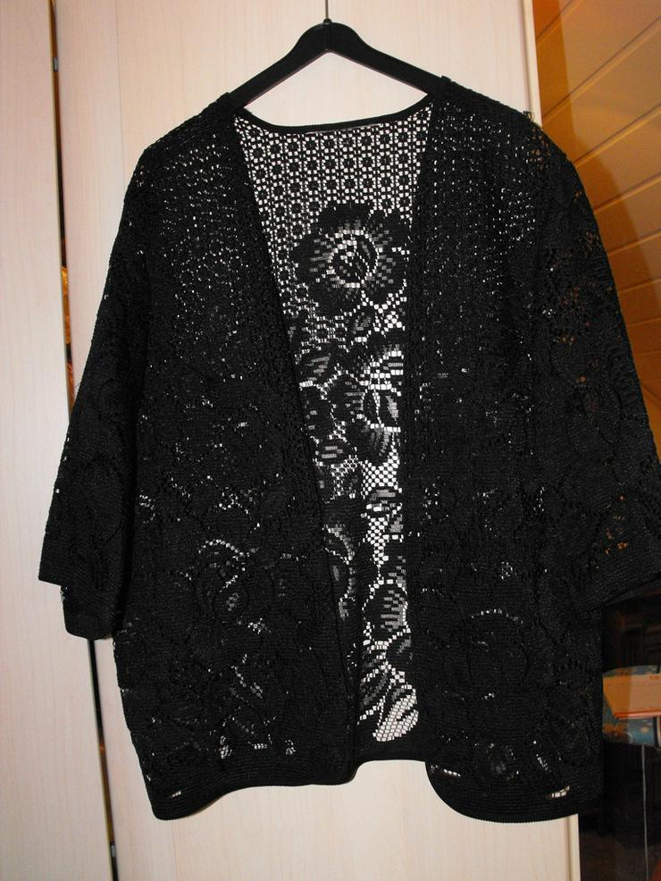 Weste schwarz mit schönem Muster - Größen > 50 / > XL - Bild 1