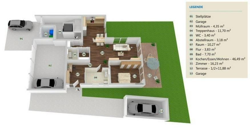 LANGSUR: 2 Zimmer Erdgeschoss Wohnung 104 m² - nach KfW 55 Standard mit Terrasse und Gart... - Bild 1