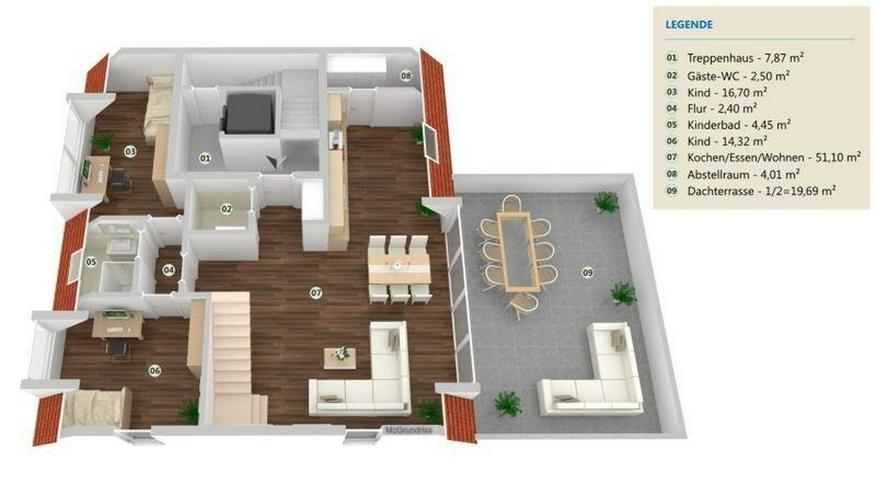 LANGSUR: 4 Zimmer Maisonette Wohnung 144 m² - nach KfW 55 Standard mit geräumiger Dachte...