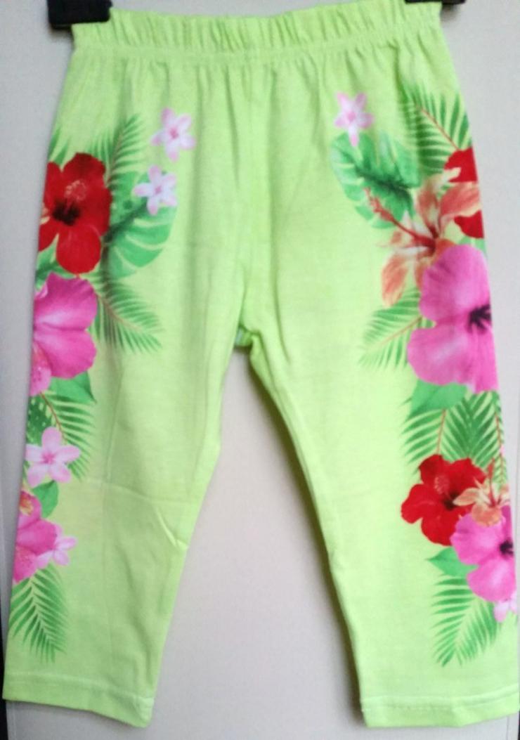 Neue süße grüne Mädchen Leggings in Größe 128